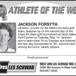 Athlete of the Week – Jackson Forysth