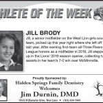Athlete of the Week Sept. 19th – Jill Brody