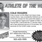 Athlete of the Week – 10-17 – Cole Rogers