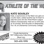 Athlete of the Week – Kate Sousley – Nov. 7th