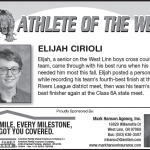 Athlete of the Week – Elijah Cirioli – Nov. 21st