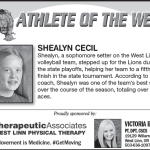 Athlete of the Week – Shealyn Cecil – Dec. 5th