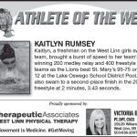 Athlete of the Week – Kaitlyn Rumsey