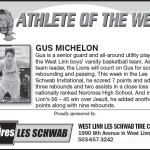 Athlete of the Week – Gus Michelon