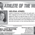 Athlete of the Week – Helena Jones