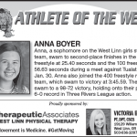 Athlete of the Week – Anna Boyer