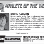 Athlete of the Week – Quinn Salmon