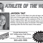 Athlete of the Week – Jayden Tait