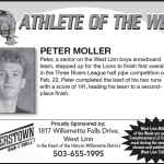 Athlete of the Week – Peter Moller