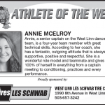 Athlete of the Week – Anne McElroy