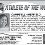Athlete of the Week – Campbell Sheffield