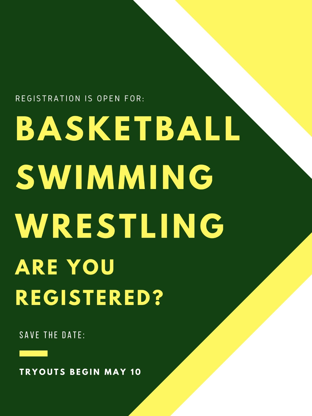 Winter Sports Registration Open