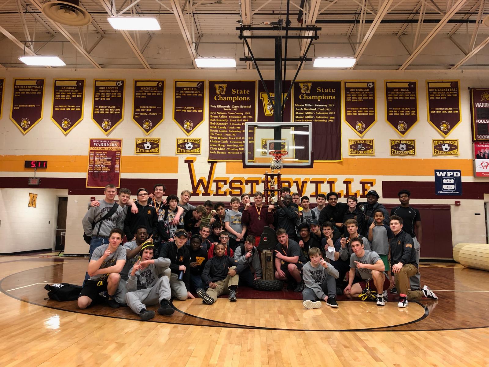 Junior Varsity Wrestling Warriors win the Jon Post Memorial Tournament
