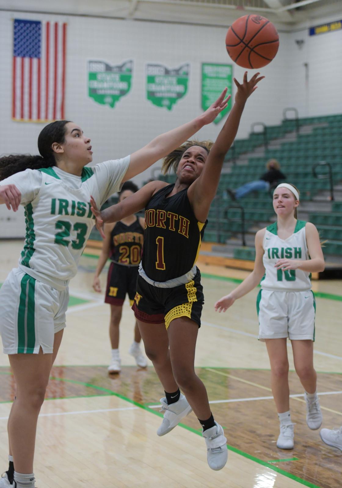 PHOTO GALLERY: North girls basketball team defeats Scioto 41-38