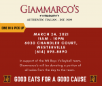 Good Food for a Good Cause – Support Boys Volleyball!