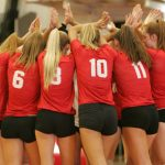 Huron Girls Varsity Volleyball beats Margaretta 3-0