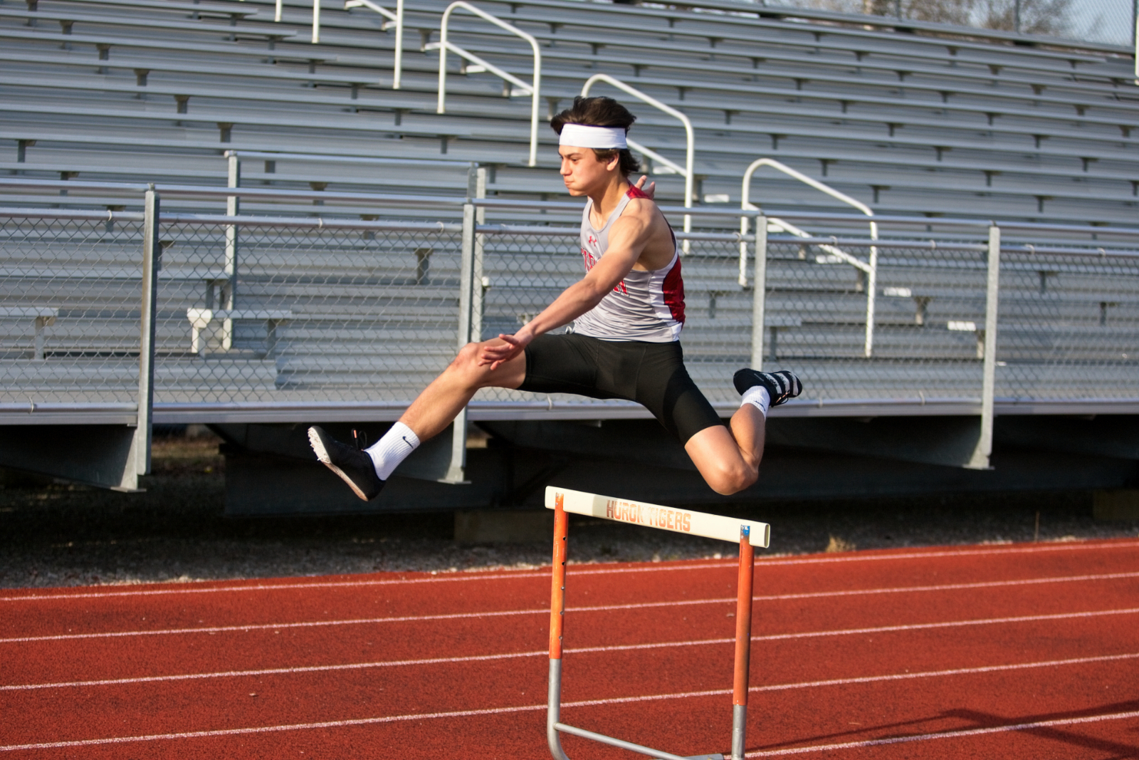 Huron Track Teams Sweep Willard in Dual Meet