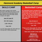 Hammond Academy Summer basketball camp!!