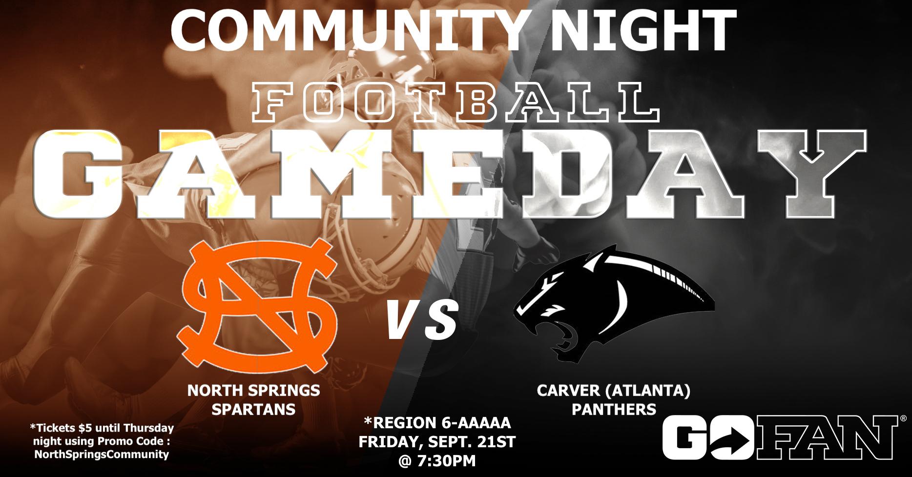 Friday Night Football is Community Night!!!