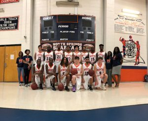 Boys Varsity Basketball Team and Student Managers 2018-2019