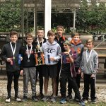 Boys Middle School Cross Country finishes 1st place at Wabash Invite