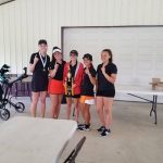 Girls Varsity Golf finishes 1st place at Wabash Co. Invitational