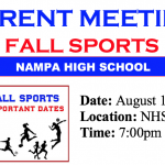 Parent Meeting – Fall Sports