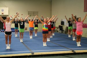 CHEER TRYOUT PRACTICE