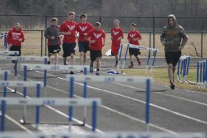 BOYS AND GIRLS TRACK PRACTICE
