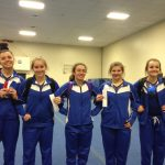 Jay County High School Girls Varsity Gymnastics finishes 2nd place