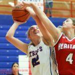 Girls Varsity Basketball beats Heritage Jr/sr 57 – 28