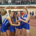 Jay County Girls Track Competed Against 22 Schools at Patriot Invitational – Stigleman, Shannon, Omstead, Dow with New School Record in 4×200
