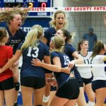 Girls varsity volleyball defeats Delta