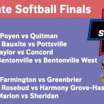 2018 Softball State Finals schedule