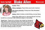 Senior Spotlight: Blake Allen
