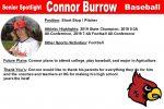 Senior Spotlight: Connor Burrow