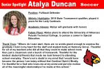 Senior Spotlight: Atalya Duncan