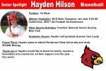Senior Spotlight: Hayden Hilson