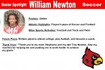 Senior Spotlight: William Newton