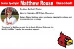 Senior Spotlight: Matthew Rouse