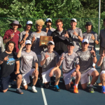 Boys tennis team wins district title