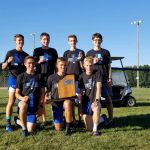Boys varsity cross country places 1st place at Ripley County Meet
