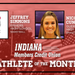 And the Indiana Members Credit Union December Athlete of the Month is….