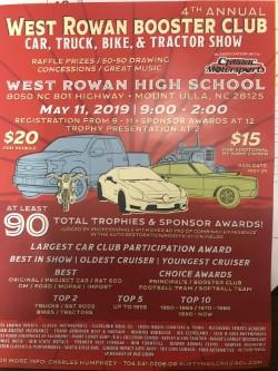 West Rowan Booster Club Car, Truck, Bike & Tractor Show