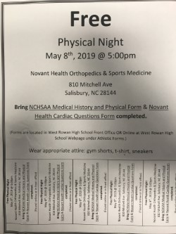 Free Physicals – May 8
