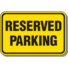 WRHS Reserved Football Parking