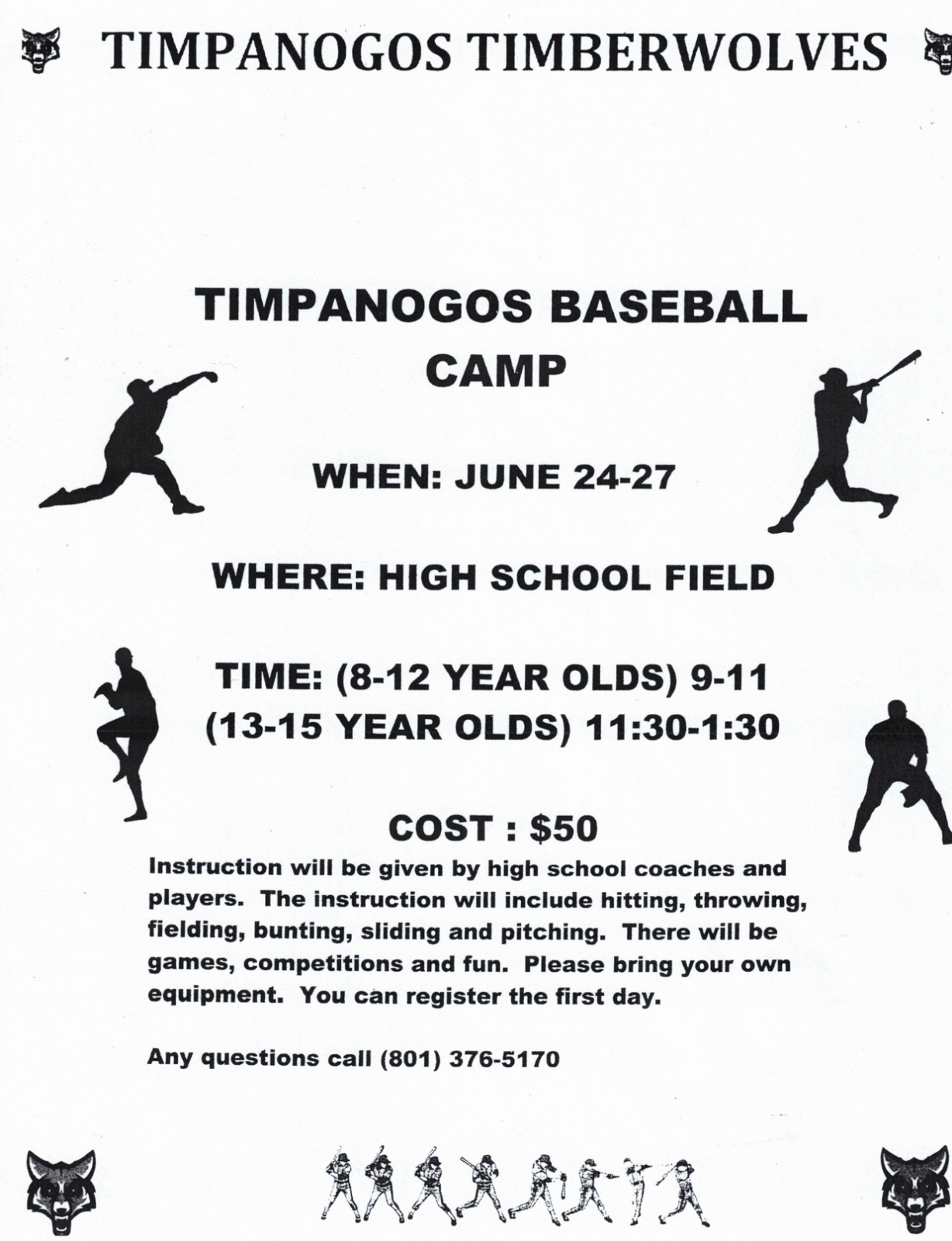 Timpanogos Baseball Camp