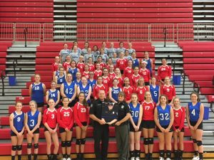 MS Volleyball – Back the Blue Fundraiser