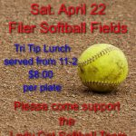 Filer Softball Tri-Tip Dinner on Saturday April 22