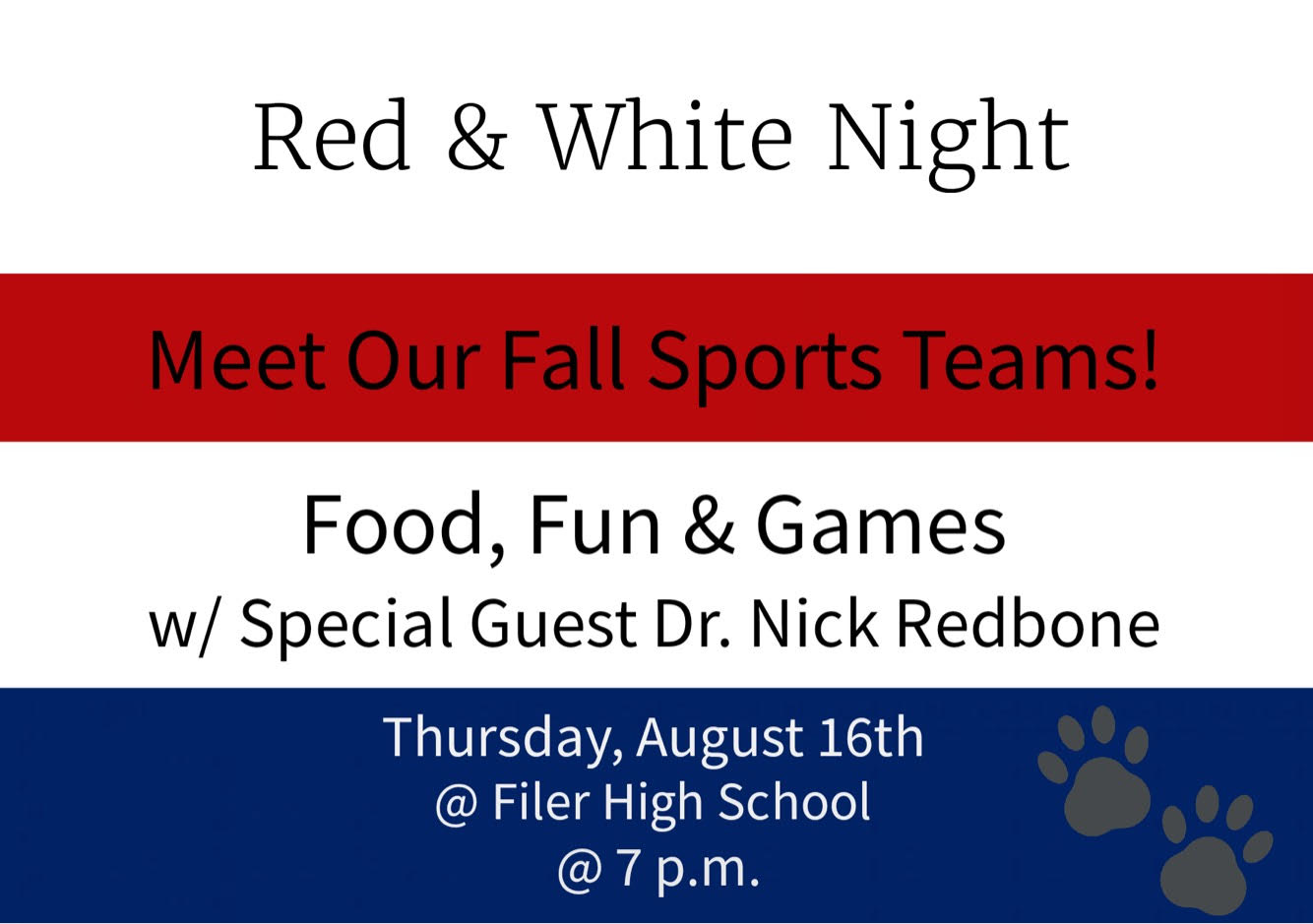 Red & White Night